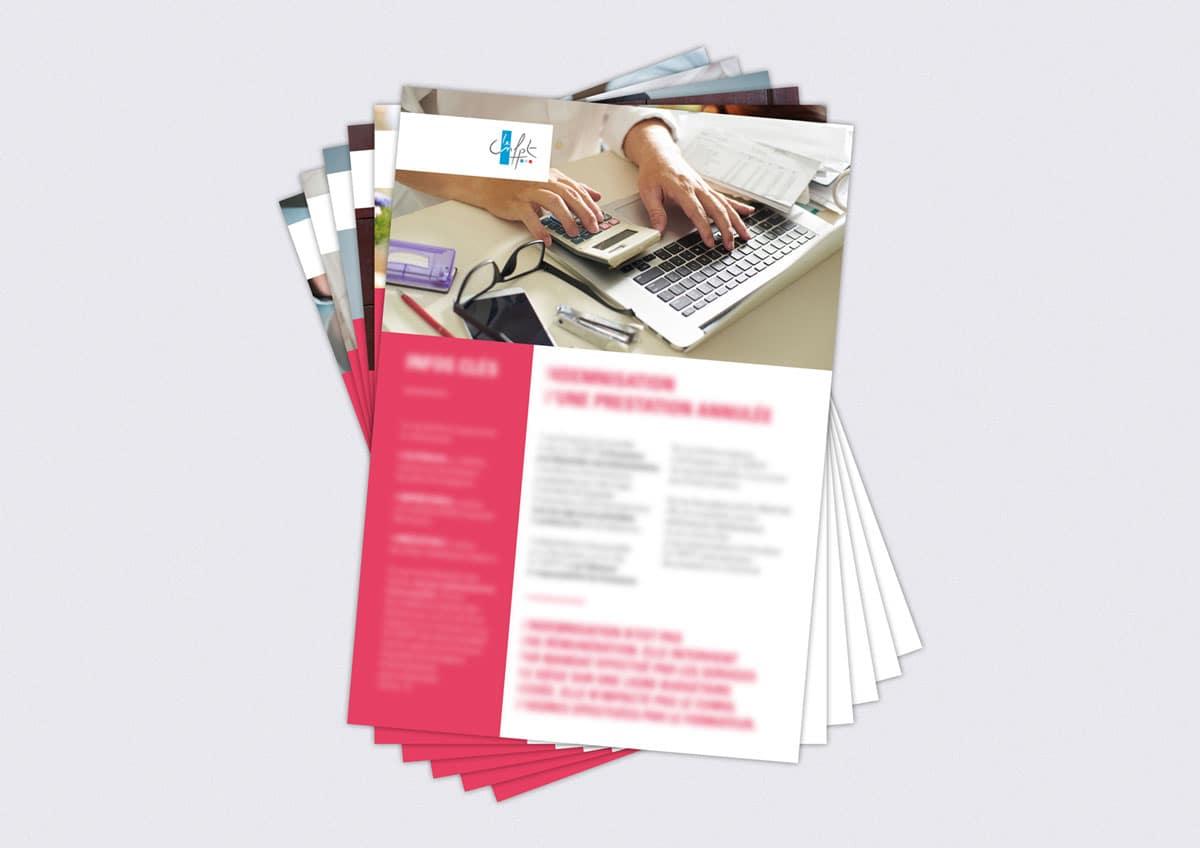 Nous avons conçu pour le CNFPT des fiches pratiques proposant une hiérarchisation fortement marquée des informations (encadrés, exergues, etc.)
