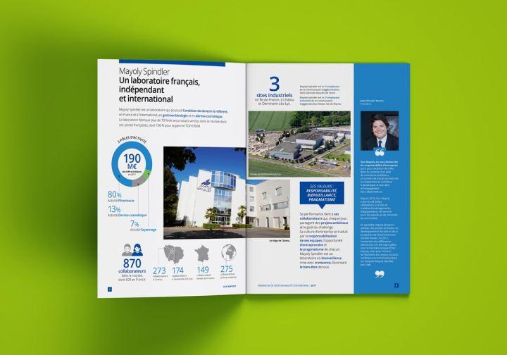 Des infographies jalonnent le rapport RSE pour animer les contenus