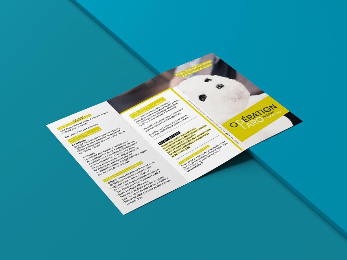 La plaquette explicative très visuelle présente de manière concise le projet, son objectif et le planning