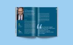 Une mise en page sobre et élégante qui met en valeur les contenus visuels et graphiques du rapport annuel