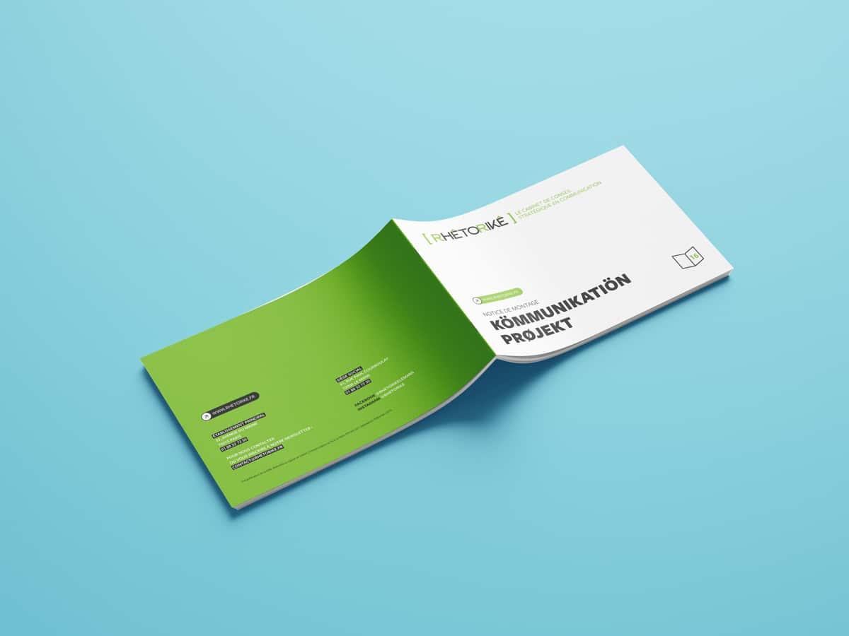 Une couverture aux couleurs de notre agence de communication