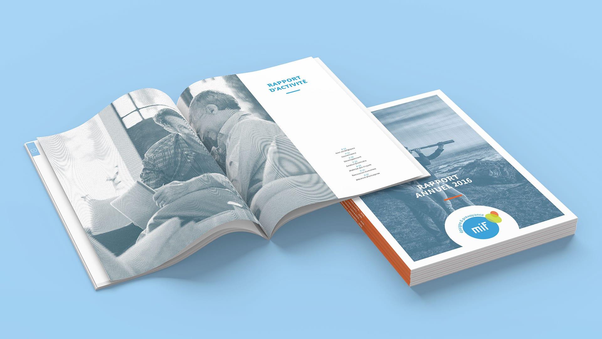 Rhetorike a conçu et réalisé le rapport annuel 2016 de la MIF.