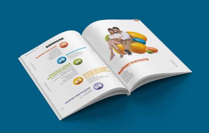 Notre agence sait rendre dynamique un rapport d'activité et la documentation financière.