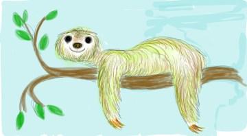 Sloth-Fingerpainted