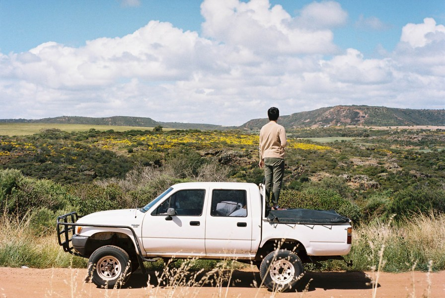 Geraldton Roadtrip Hilux In Transit Analogue Photography