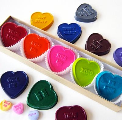 Crayon Conversation Hearts