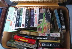 suitcase-ful of books