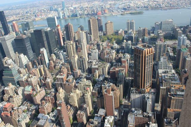 new york from the sky