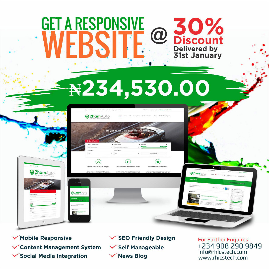 Get a responsive website at discounted price