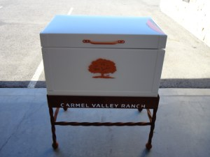 Water Cooler Box with Custom Stand