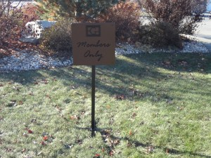 Custom Golf Course Directional Signage -Gallery