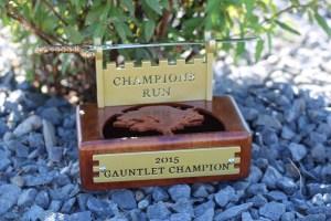 Gauntlet Champion Trophy -Champions Run