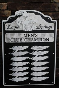 Golf Perpetual Plaque -Eagle Springs