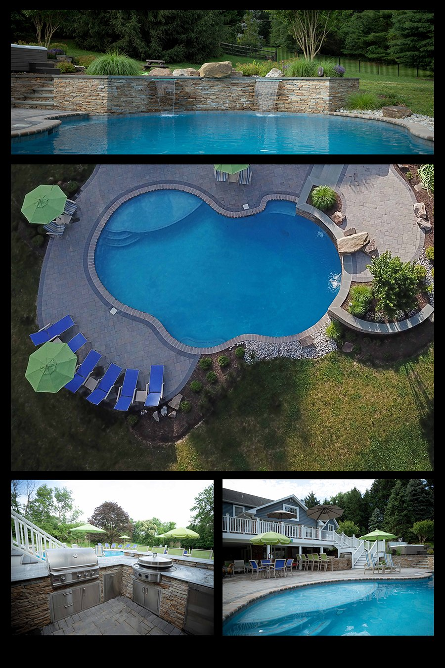 Rhine Pools, Landscaping, Outdoor Kitchen and Swimming Pool builder