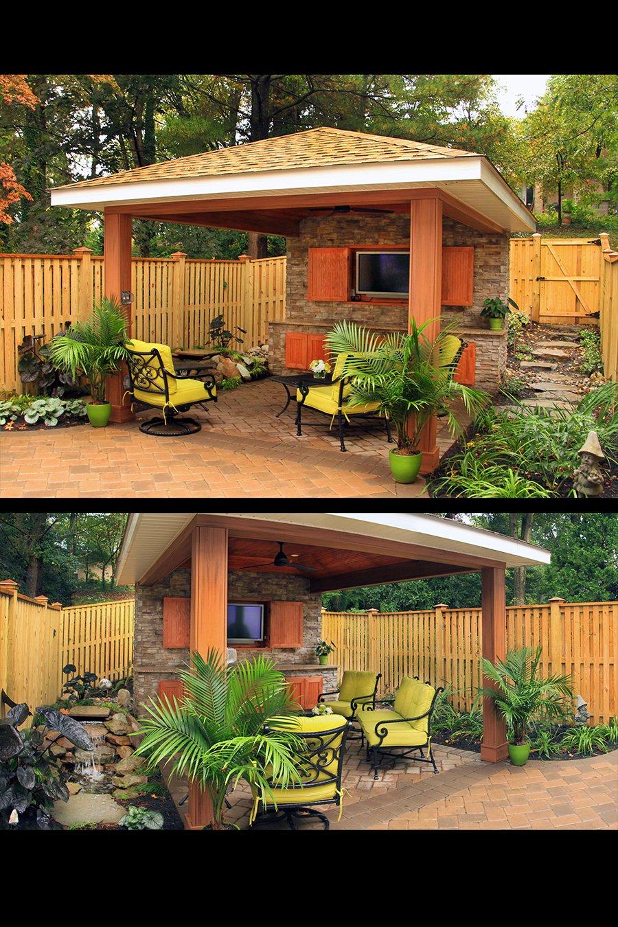 Custom Outdoor Living Kitchen Backyard in Howard County
