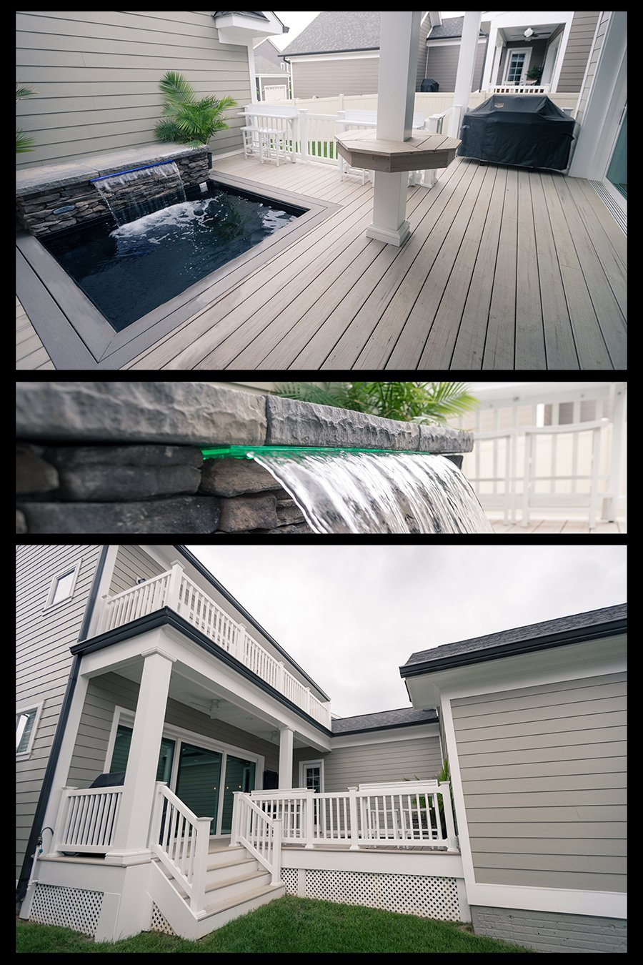 Custom Patio and Spa with Seating in Howard County