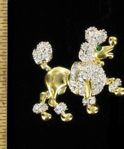 985fd88c40b Vintage Poodle Dog Rhinestone Pin Animal Brooch Jewelry Pins Canine Dogs