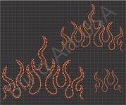 flames rhinestone design blaze