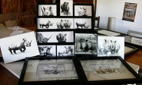 Samples of the artwork which will be for sale
