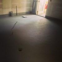 Panini Bay Kitchen Floor Sprayed With Industrial Grey