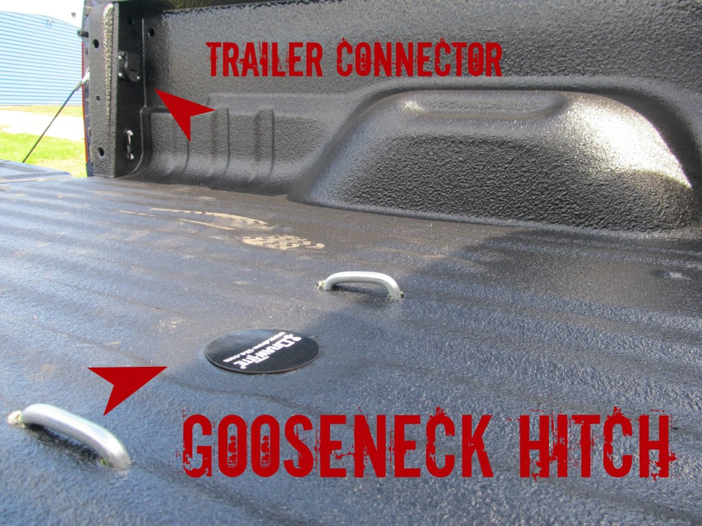 medium resolution of new ford f350 with gooseneck hitch install with rhino tuffgrip