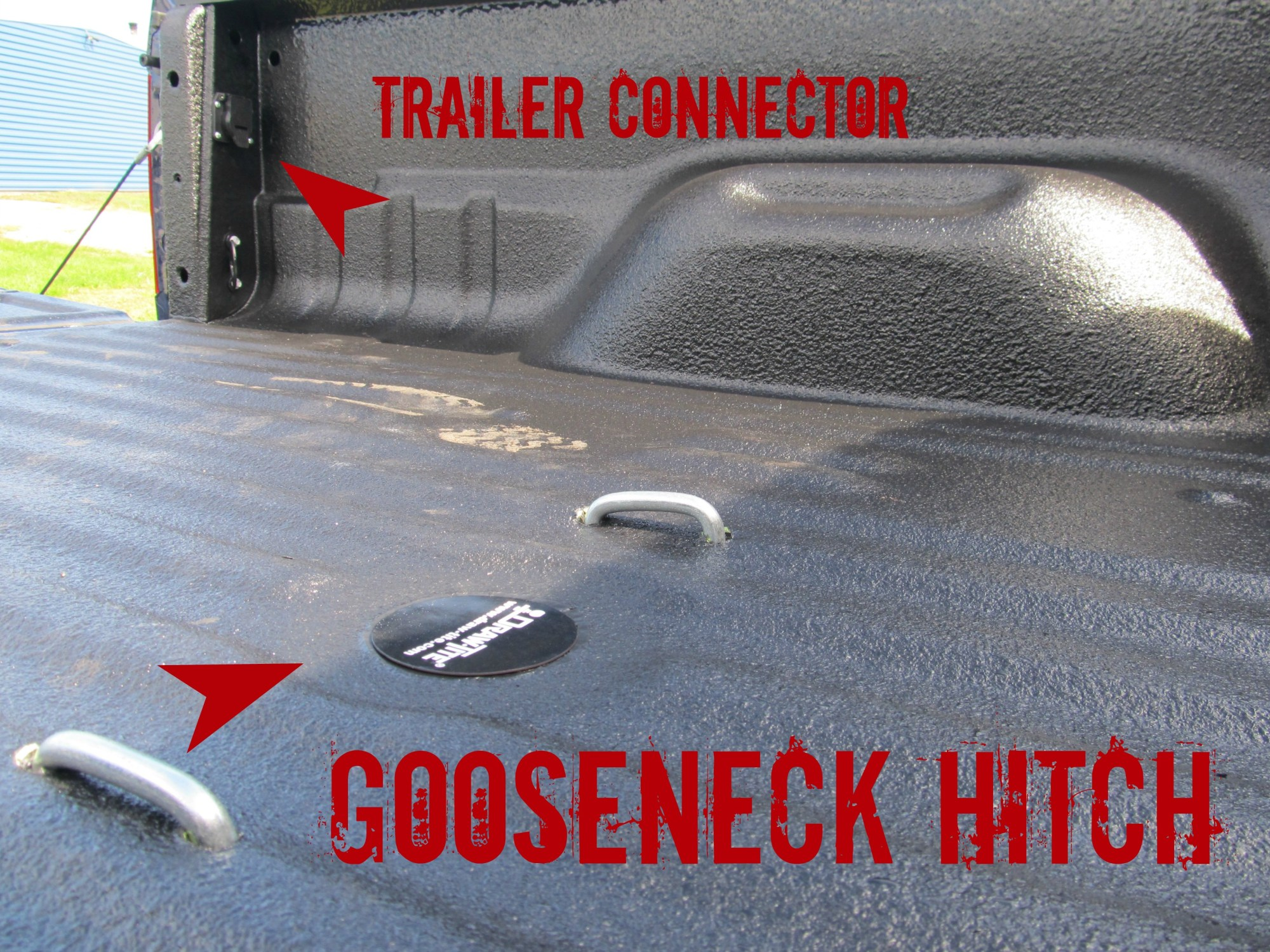 hight resolution of new ford f350 with gooseneck hitch install with rhino tuffgrip rhino linings of york