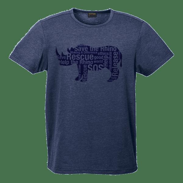 Rhino Message Shirt Mens-Navy-Blue