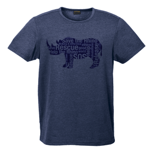 Rhino Message Shirt Mens-Navy-Blue