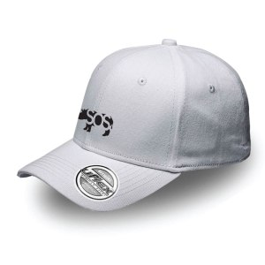 RhinoSOS, White Fitted Cap Front