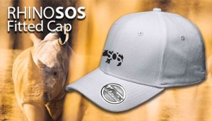 RhinoSOS White U flex fitted cap