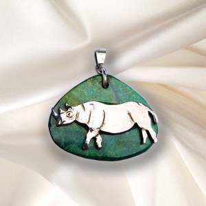 Save the Rhino - Rhino Pendant - Large