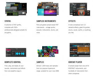 KOMPLETE START, a free VST plug-in and sample collection.