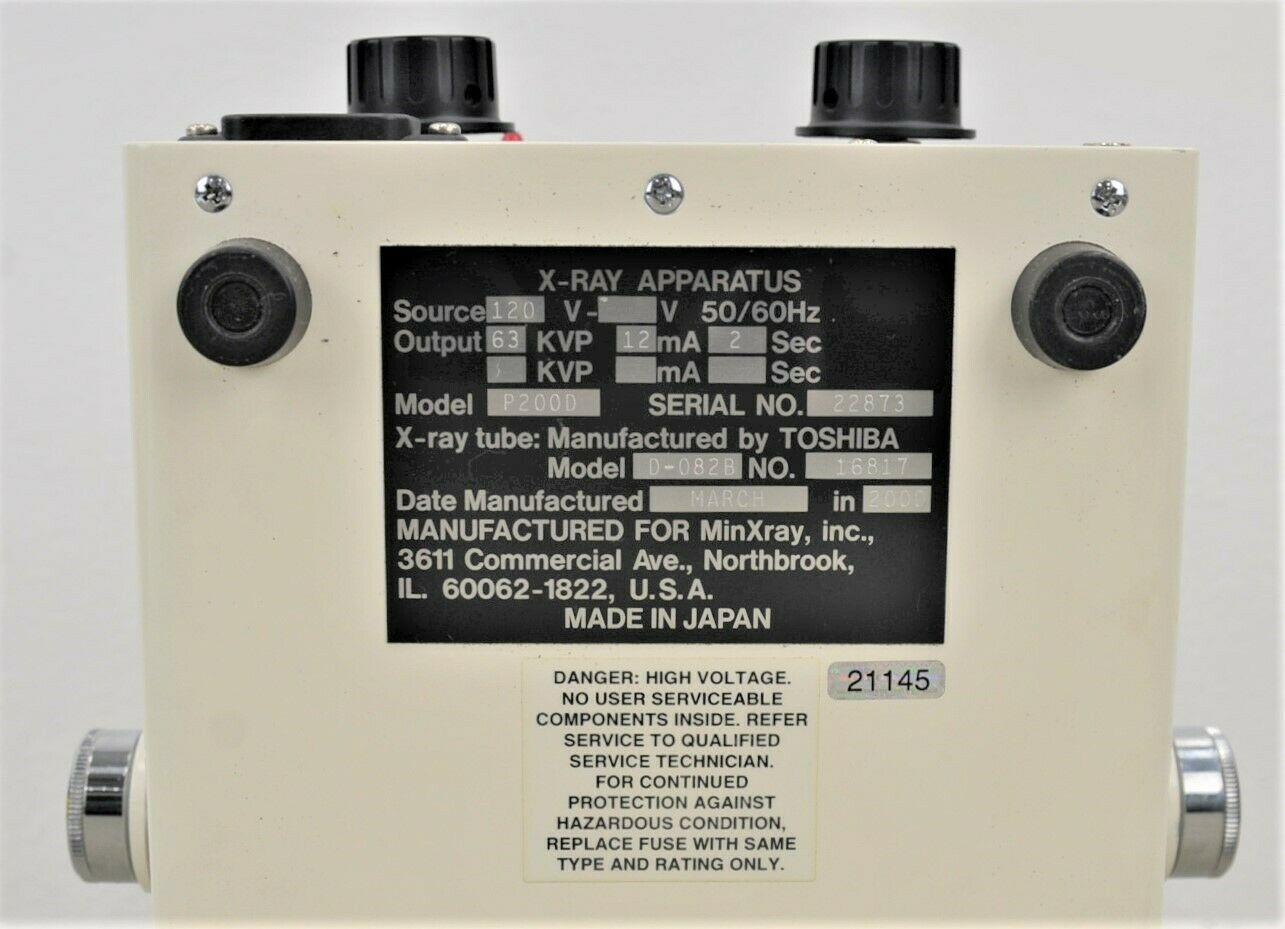 New Minxray P200d Mark Iii Portable Dental X Ray Unit Amp X