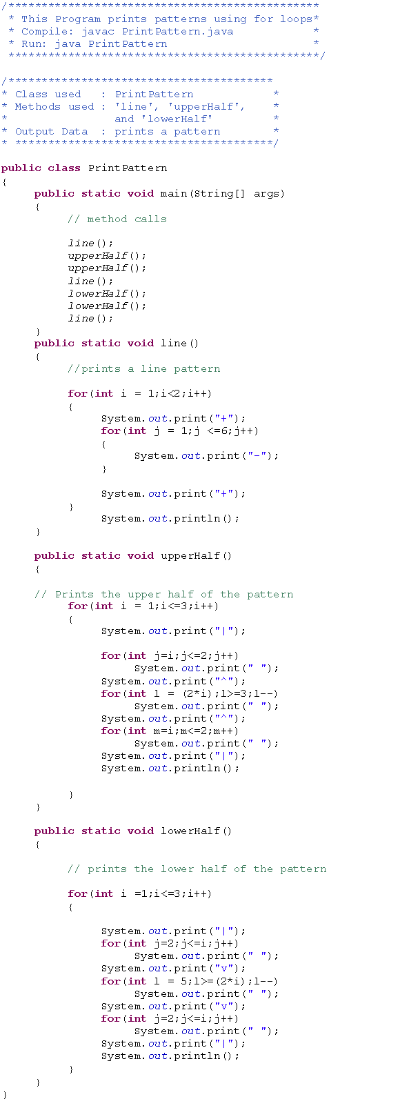 Solved: Write a program that produces the following output