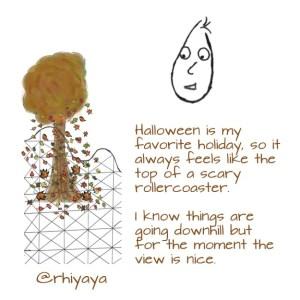 autumn on the rollercoaster