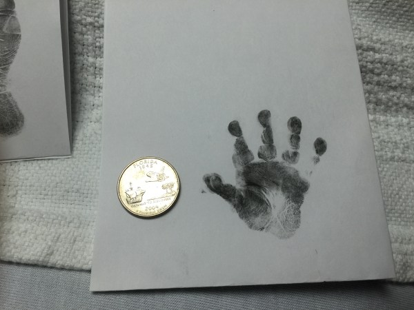 hand and foot print tiny