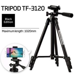 3120 - Tripod Stand For Dslr Camera With Mobile Holder - Black - RHIZMALL.PK Online Shopping Store.