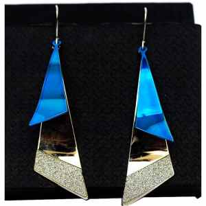 Aqua Drop Blue Earrings