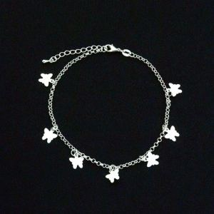 Abalone Silver Anklet