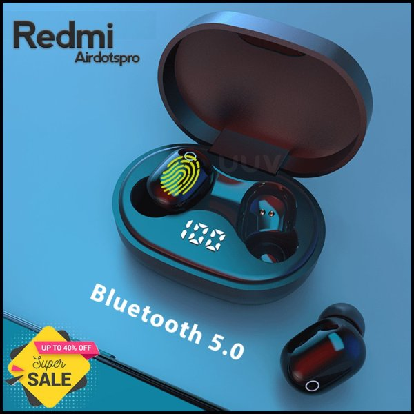 REDMI Airdotspro Wireless Earphone Bluetooth 5.0 Headset TWS Sport True Wireless Headphones wireless Earbuds Earphones - RHIZMALL.PK Online Shopping Store.