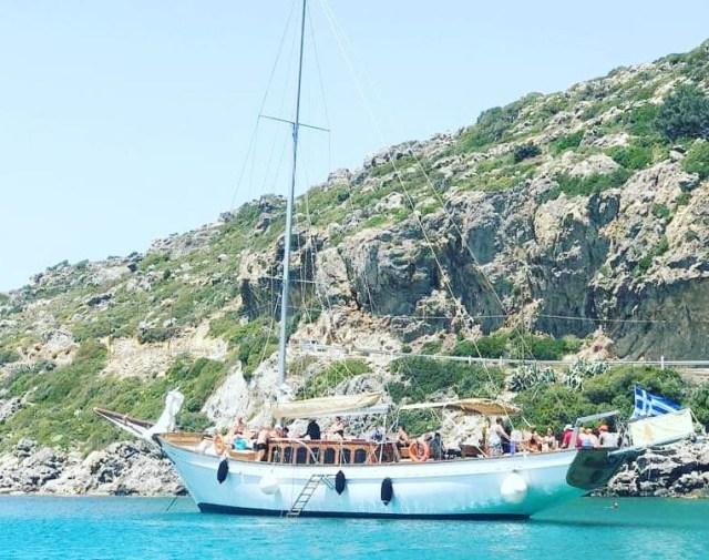 excursion en bateau groupe Rhodes