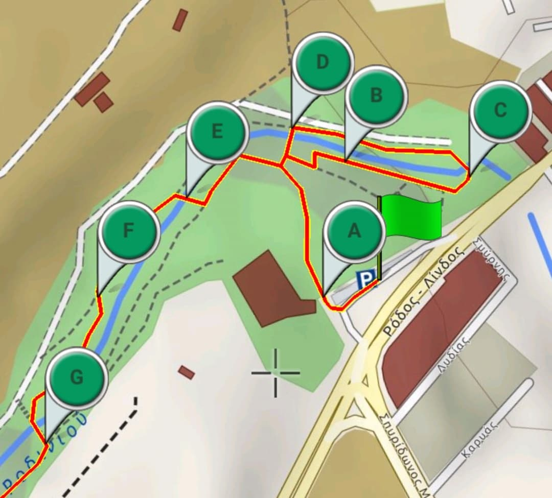 Itinéraire parc Rodini