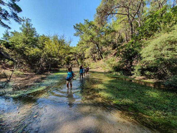 Randonnée dans la vallée des 7 sources à Rhodes