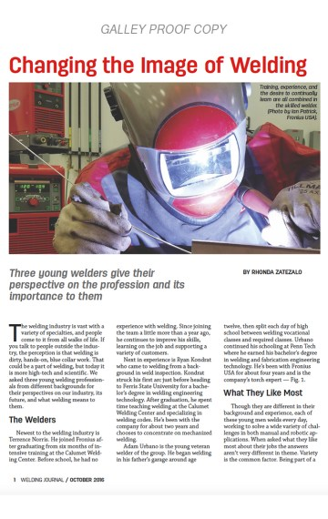 Changing the Image of Welding