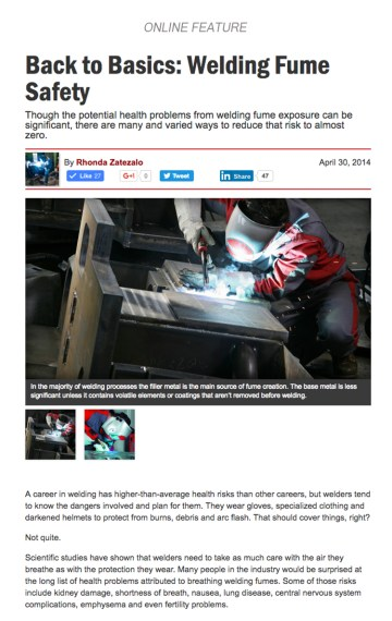 Back to Basics: Welding Fume Safety