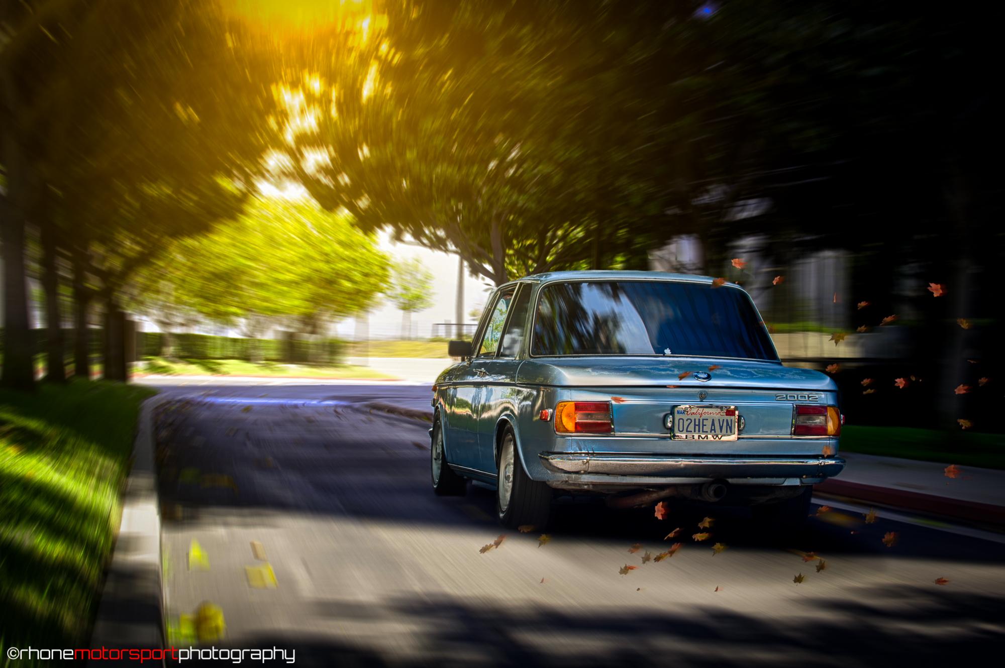 rhone motorsport photography, nikon d700, john rhone, fjord, vintage, bmw 2002, classic, virtualrig