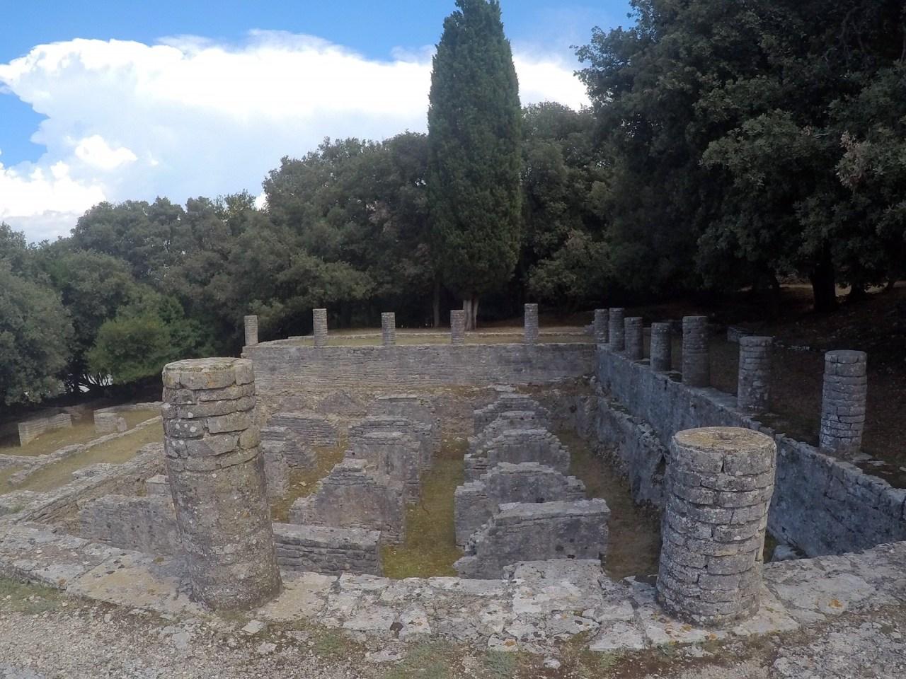 Ruins of a roman villa brijuni national park