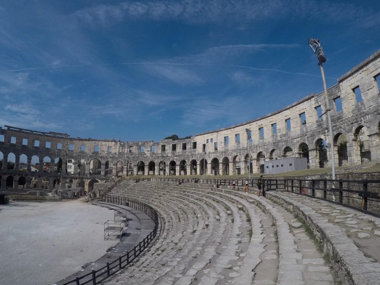 Inside the Pula Colosseum