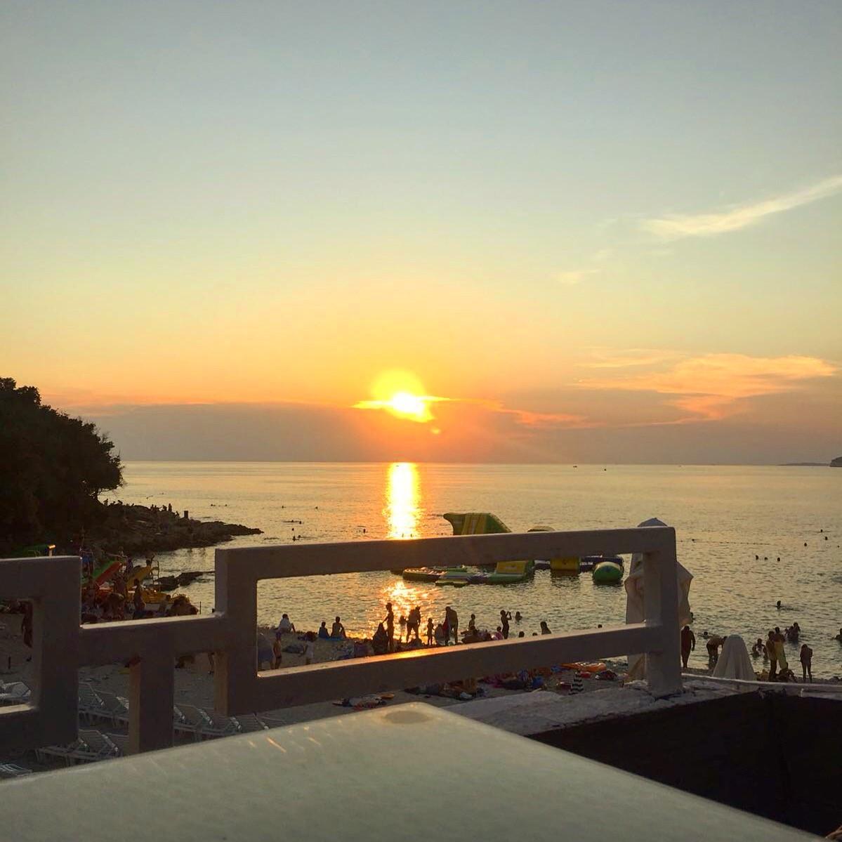 Pula beach sunset