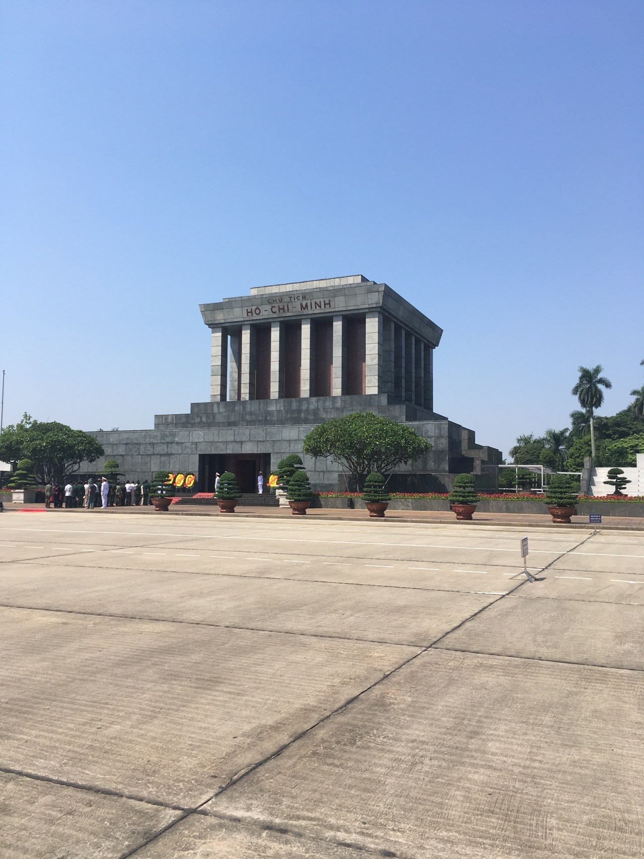 The mausoleum where Ho Chi Minh lays